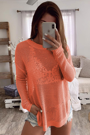 See-Through Solid Sweater