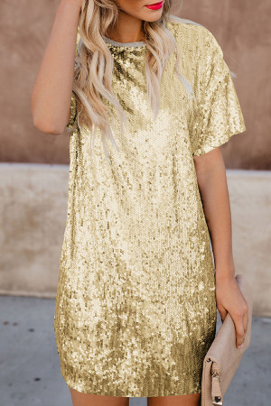 Sequins T-shirt Dress
