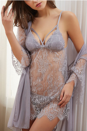 Sexy 3pcs Lace Lingerie Set