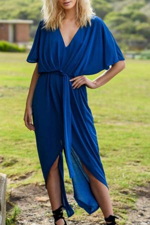 Sexy Asymmetric Slit Dress