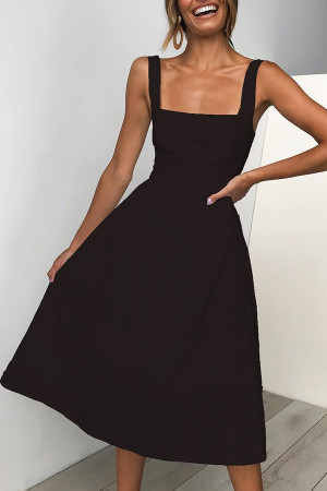 Simple Backless A-line Dress