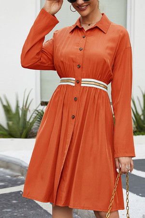 Single Breasted Shirt Dress