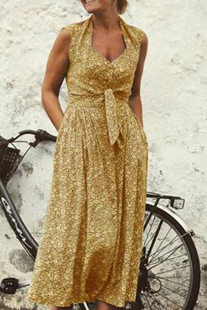 Sleeveless Ditsy Floral Dress