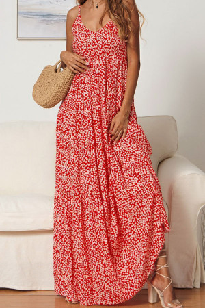 Sleeveless Floral Cami Dress