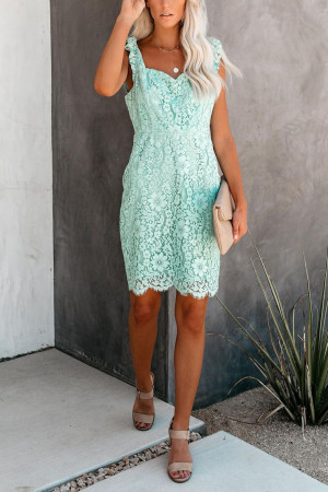 Sleeveless Lace Detail Dress