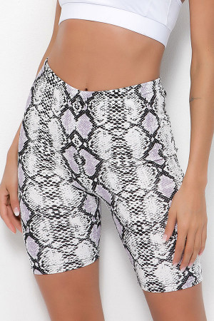Snake Print Short Leggings