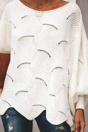 Solid Cutout Pullover Sweatshirt