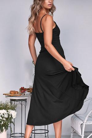 Solid Flounce Cami Dress