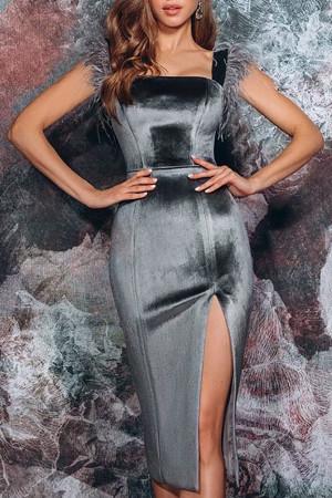Solid Split Sleeveless Dress