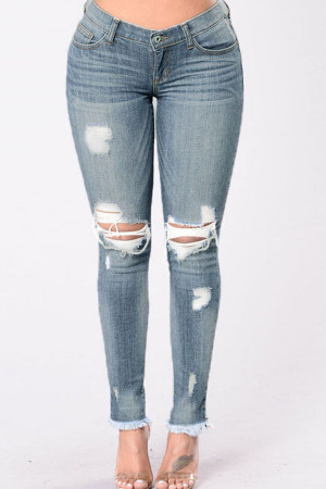 Stretchy Skinny Casual Jeans