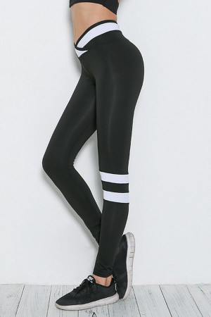 Stripe Panel Workout Leggings