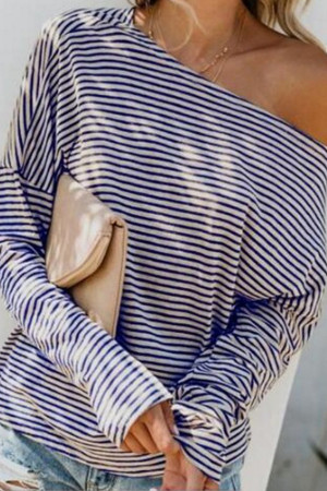 Striped Casual Loose T-shirt