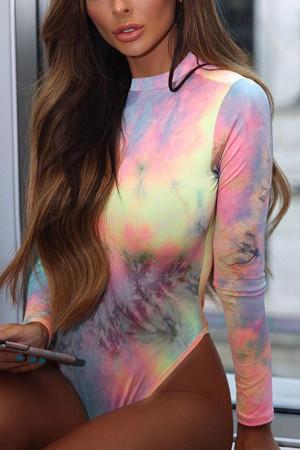 Tie-dye Scoop Skinny Bodysuit