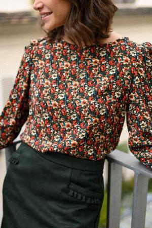Tie Back Floral Blouse