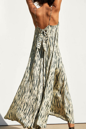 Tie Dye Knot Back Dress