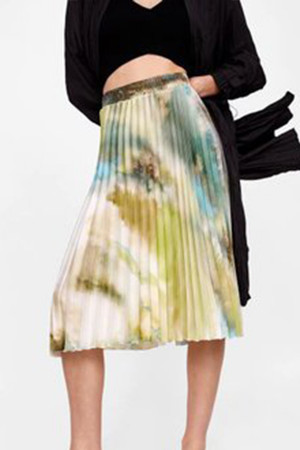 Tie Dye Pleated Skirt