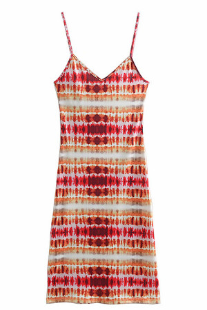 Tie Dye Spaghetti Straps Dress