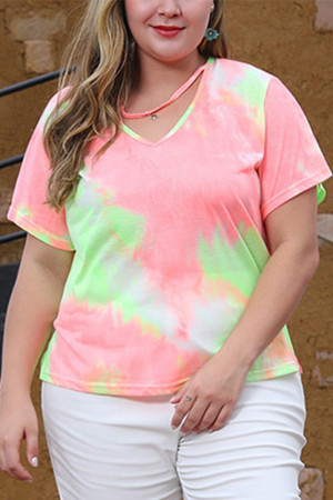 Tie Dye T-shirt Plus Size