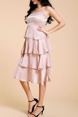 Tiered Layer Ruffle Dress