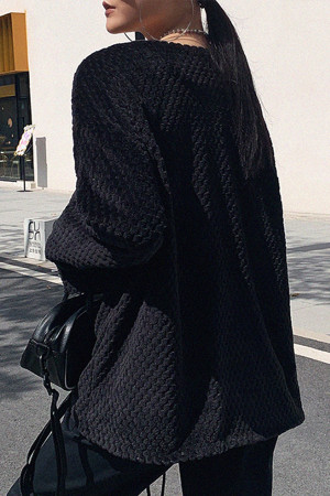 V-neck Strappy Loose Coat