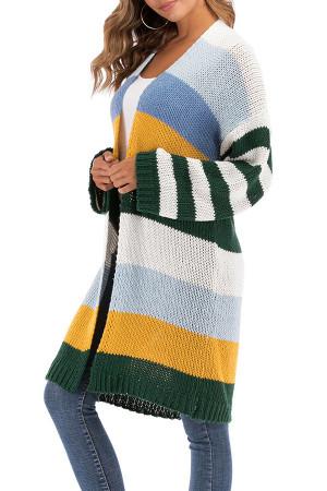 V-neck Striped Kit Cardigan