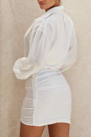 White See Through Chiffon Dress